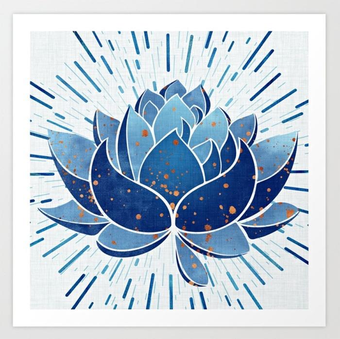 Blooming Indigo art print by Kristian Gallagher