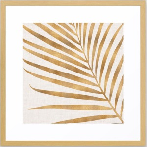 Metallic-Palm-Leaf