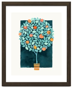 Orange-Tree-at-night