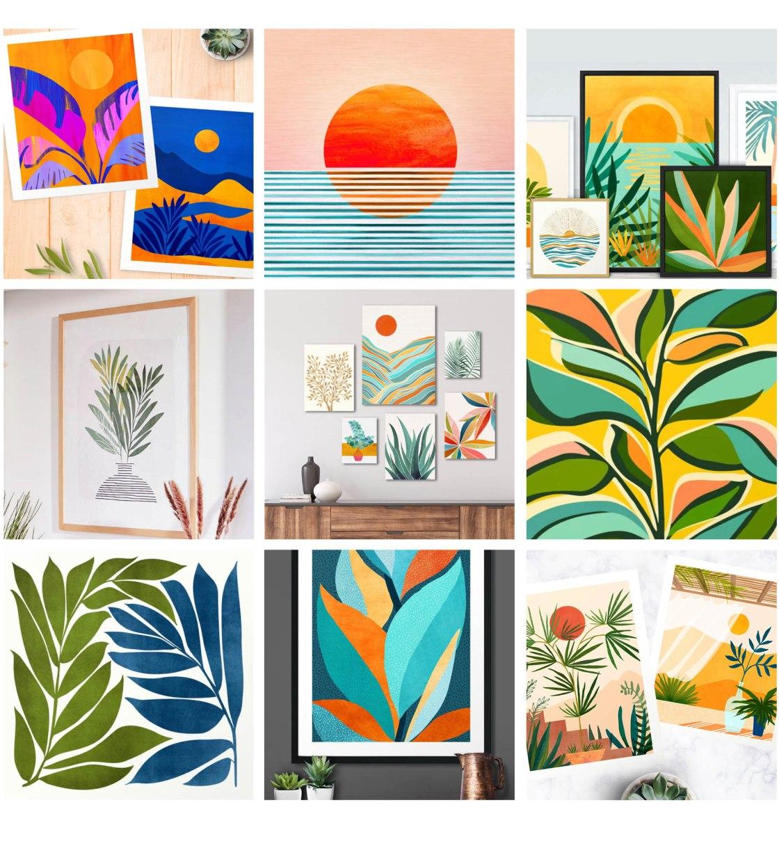 Modern Tropical Decor Collection